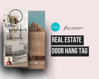 2 Realtor door hanger - instant download - Door hanger, realtor marketing, agent marketing, sellers agent, realtor brochure, realtor mailer