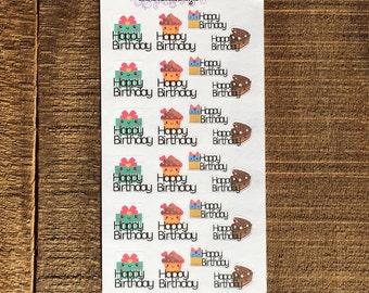 Happy Birthday Planner Sticker