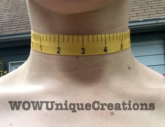 Sale Measuring Tape Choker Chokers Rulers Measuring Tape Etsy