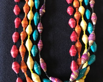 Beautiful handmade necklace from recycled materials