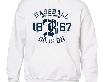 b4f680ffb428 Baseball New York Champions Division Style Hoodie - Sweater Unisex  personalisable Famous ( R Feb 91)