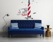 A Smooth sea Never Made a Skilled Sailor - Baby Boy Decoration - Mural Wall Decal Sticker For Home Interior Decoration Car Laptop (R33)