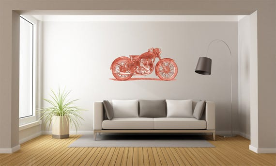Motorcycle - Mural Wall Decal For Home Bedroom Living Room (82)