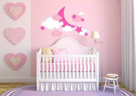 Baby Mädchen Himmel Zimmer Kinderzimmer - Wandbild Wandtattoo Aufkleber für  Haus Schlafzimmer (356)