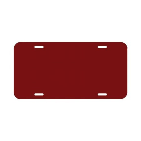 Laser Cut and Made in USA .020 Maroon Plastic License Plate Vinyl Blank