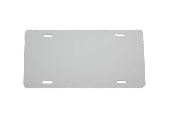 1mm Anodized Aluminum License Plate Blank Heavy Gauge .040 - 12x6 Black Knight Partsapiens Corp