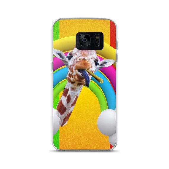 Rasta Flag Giraffe Smoking A Blunt Funny Cell Phone Case  0e1d233d3