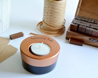 """Selfcare gift """"looking hot"""" candle holder, husband/wife pressie"""