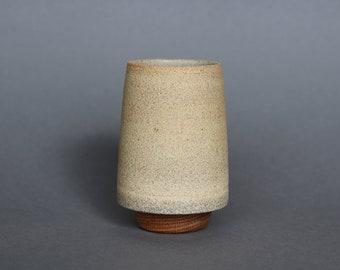 Tapered Vase with Oak Base