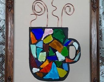 Mosaic coffee art