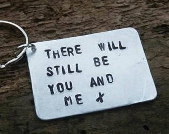 Led Zeppelin Keyring Thank You Lyrics THERE WILL STILL BE YOU /& ME Gifts for Him