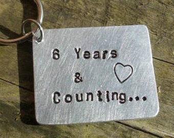 Anniversary keychain etsy