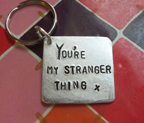 Cute Stranger Things 2 Keyrings For Men Gifts Keychains Etsy