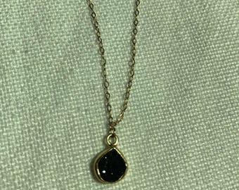 Druzy gold filled chain necklace