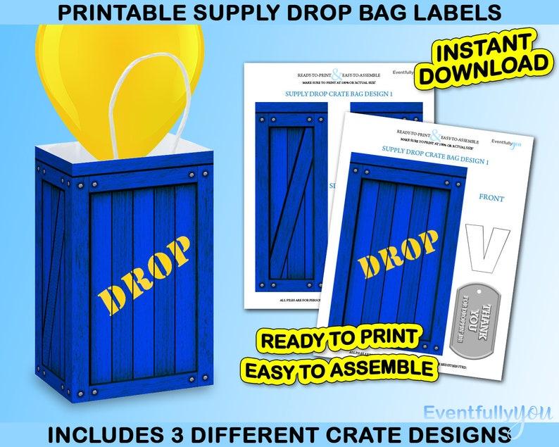 Fort Gaming Supply Drop Bag Loot Bag Drop Box Party Favor  e6d488d8be0d6