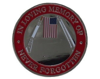 """25 Pcs FALLEN HEROES 9-11 2001 Embroidered Patches 5/"""" Diameter iron-on"""
