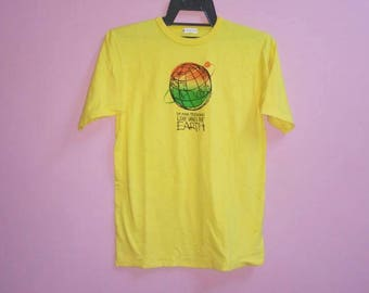 ee08a42697 Vintage 24 hour television love saves the earth tee shirt medium size m  made in japan
