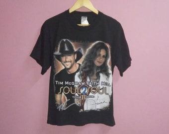 1e1918f1e Vintage tim mcgraw faith hill tee shirt soul 2 soul tour medium size m