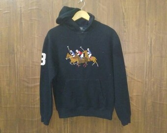 7f80138ad7645 Vintage Polo Ralph Lauren sweat hoodie big pony embroidery medium size M