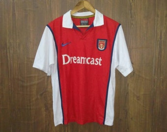 9c8995042 Vintage Nike football jersey Arsenal Dreamcast the gunners large size made  in UK