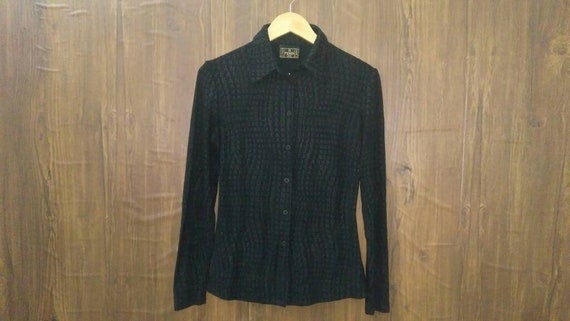 Vintage Fendi jeans long sleeve shirt monogram fen