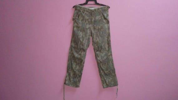 Vintage camouflage Tsumori waist size 31 cargo medium pant chisato rRrqa