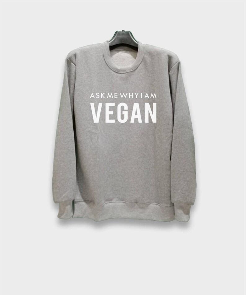 c2d2337f Slogan sweatshirts vegan shirts jumpers womens crew neck | Etsy