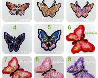 Fabric Embroidery butterfly Applique cloth Patch applique DIY garment accessories decorative Jacket cloth craft supply