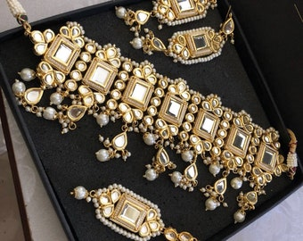 Handmade Imitation Jewellery - Kundan Jewelry - Bridal jewellery  - Indian Jewellery Set - Traditional Jewellery - Kundan Neckle