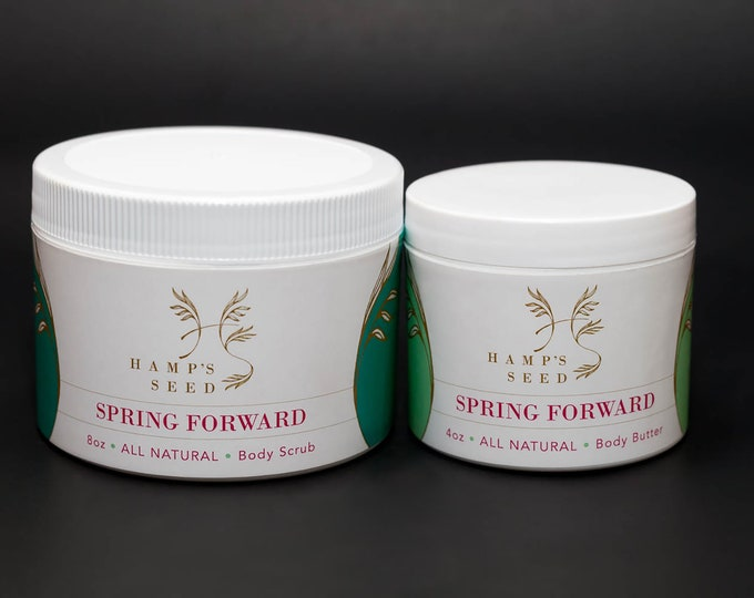 Hamp's Seed Body Scrub and Body Butter Duo | 8oz. Body Scrub and 4oz. Body Butter
