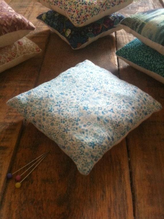 Pin cushion handmade with Liberty fabric,