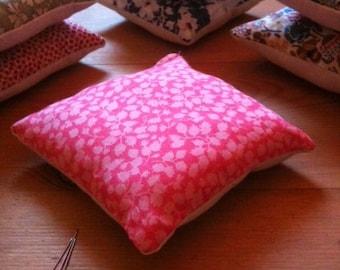 Pin cushion, handmade with Liberty fabrics, Glengade