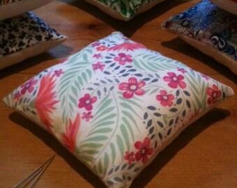 Pin cushion, handmade with Liberty fabrics,