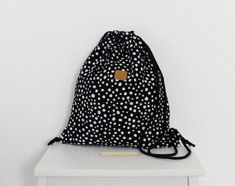 Kids Backpack – black dalmatien - LAST ONE