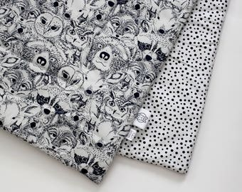Baby Blanket - forest faces