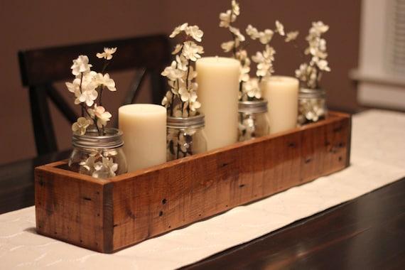 Rustic Table Centerpiece Wooden Box Farm Box Garden Etsy