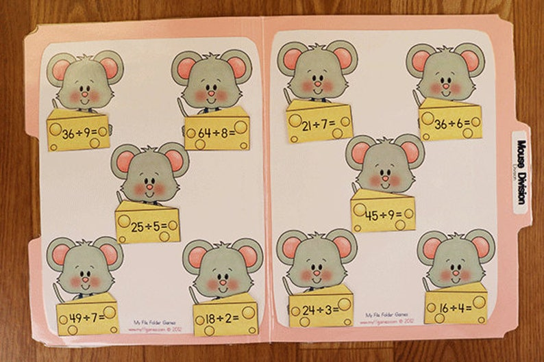 picture relating to Printable Division Game identified as Department- Mouse Section- Printable History Folder Match PDF Obtain -3rd 4th Quality