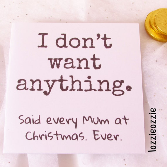 Mum Christmas Card Mother Funny Christmas Card Unusual Funny Etsy