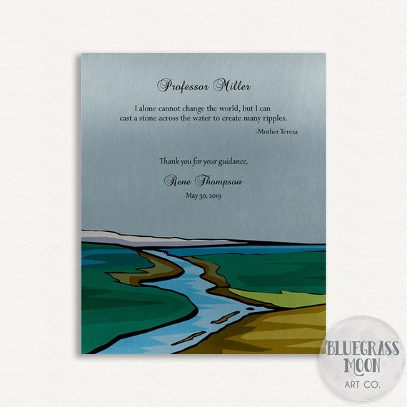 1808 Boss Gift Warren Bennis Quote Handcrafted Gift For Teacher Green Landscape Thank You Gift For Mentor Personalized Gift For Leader