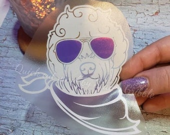 Doodle in Shade vinyl decal with shifting sunglasses