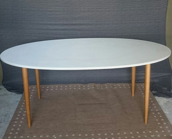 Concrete Dining Table Gfrc Etsy - Oval concrete dining table