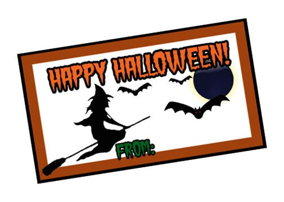graphic relating to Happy Halloween Cards Printable named Delighted Halloween Printable Card, Print at Property Reward Tags,Witches and bats Childrens Cl Present Card, Reward tag Instructor halloween Sweet Card