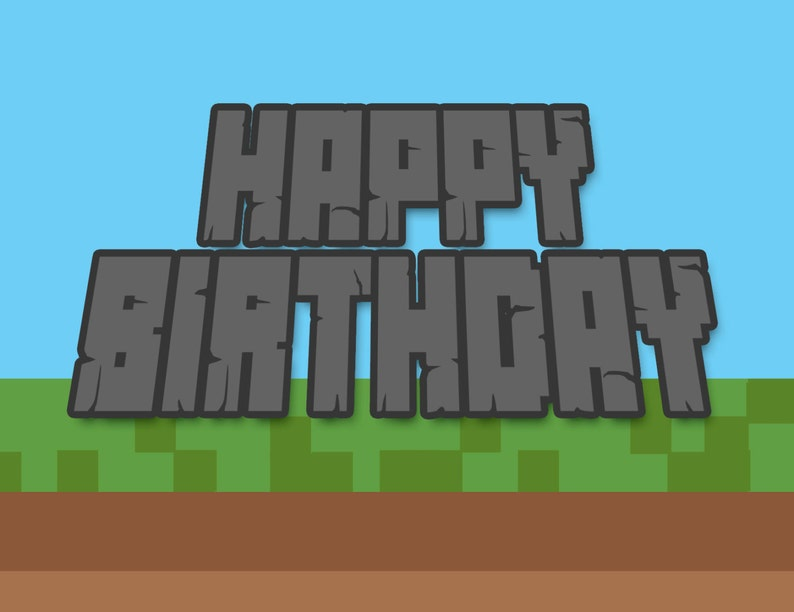 picture regarding Minecraft Birthday Card Printable known as Satisfied Birthday Card- Boys Minecraft impressed Card Printable, fast obtain BDay card, Print at residence,Producing, Mining, Teenager Birthday card
