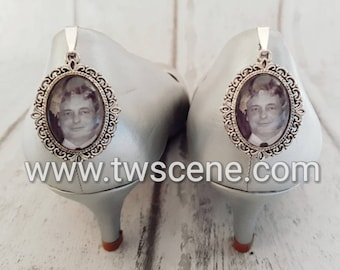 Wedding shoe clips memory frames picture fitted