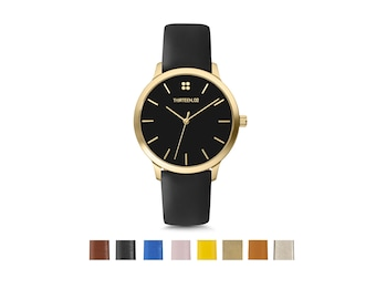 Best Selling Items, Leather Anniversary for Her, 3rd Anniversary Gift for Wife, Watches for Women, Minimalist Watch, Gold Watch Women