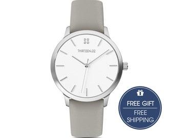 Birthday Gift for Women, College Student Gift, Wrist Watch, Gift for Her, Girlfriend Gift, Silver Watch, Minimalist Watch, Ladies Watch
