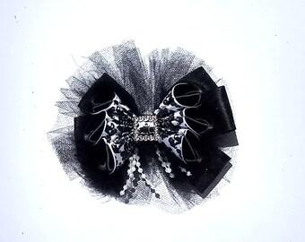 Fancy Black Hair Bow