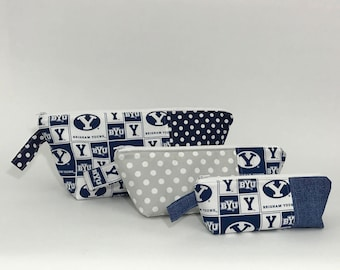 Nesting Travel Bags - Brigham Young University Print