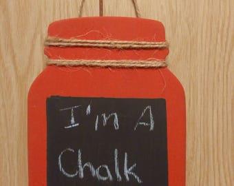 Mason jar chalk board