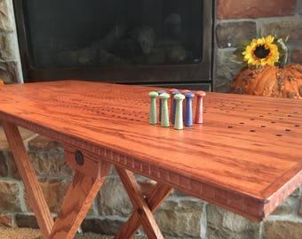 Genial Oak Cribbage Board